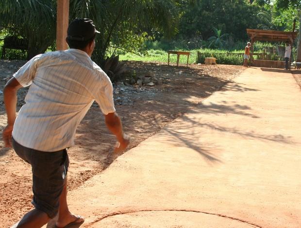 Adeptos do esporte em Ji-Paraná tentam manter a tradição de família (Foto: Valéria Reis)