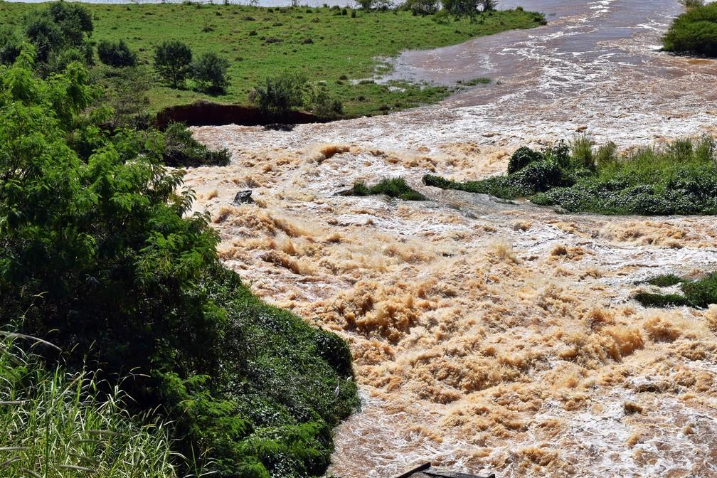 Lago registrou pico de vazão afluente de 1.208 metros cúbicos por segundo na última quinta-feira (18). — Foto: Lucas Soares / G1