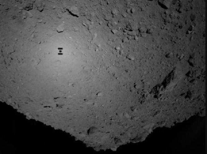 Foto do Ryugu produzido pelas sondas (Foto: Divulgação)