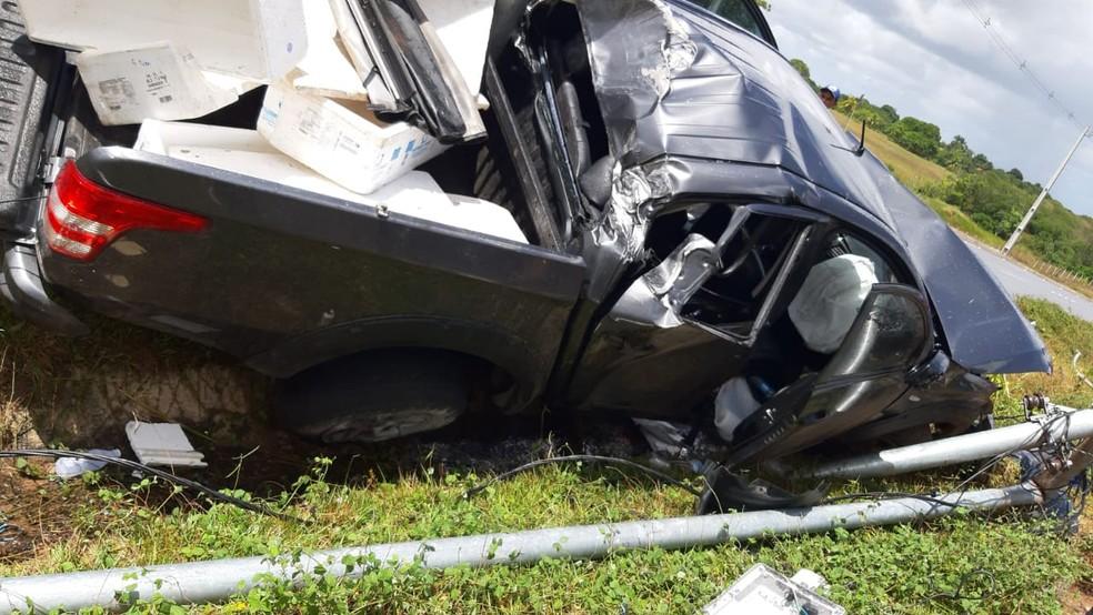 Acidente aconteceu no fim da manhã desta quarta-feira (2) — Foto: Redes sociais