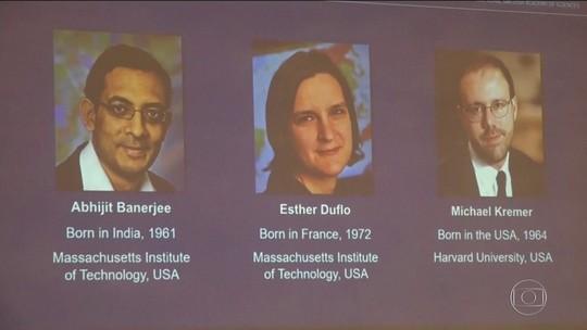 Trio ganha o Nobel de Economia por ajuda no combate à pobreza