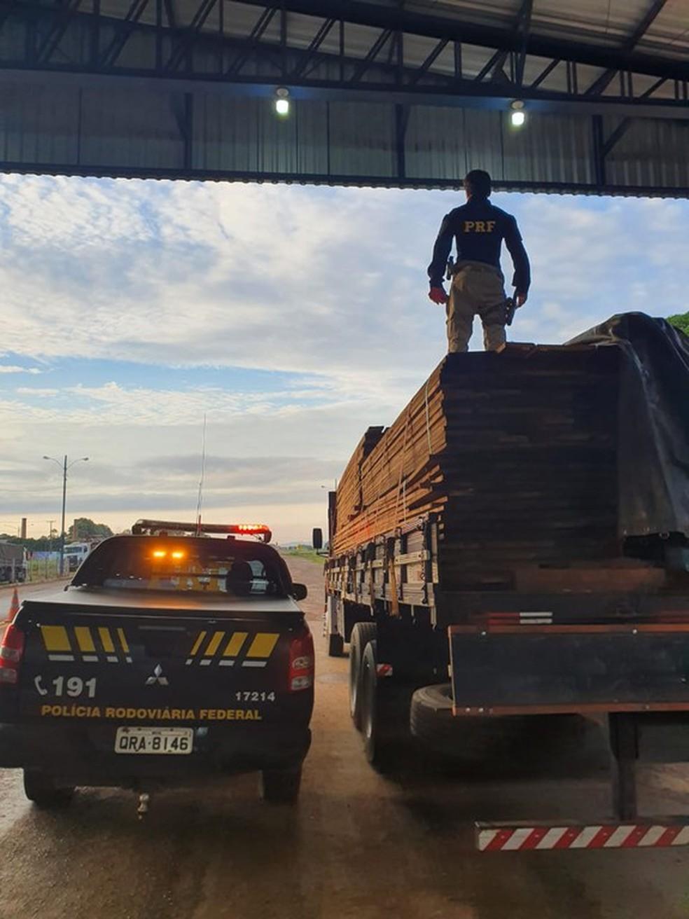 Operação Caapora, da PRF em Ariquemes — Foto: Divulgação/PRF