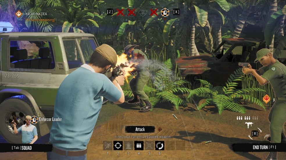 Narcos: Rise of the Cartels é um game de estratégia com momentos de tiro em terceira pessoa — Foto: Reprodução/Gematsu