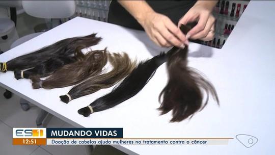 Doação de cabelo para confecção de perucas para mulheres com câncer do Norte do ES