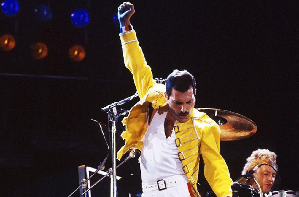 Freddie Mercury, líder da banda Queen — Foto: Divulgação