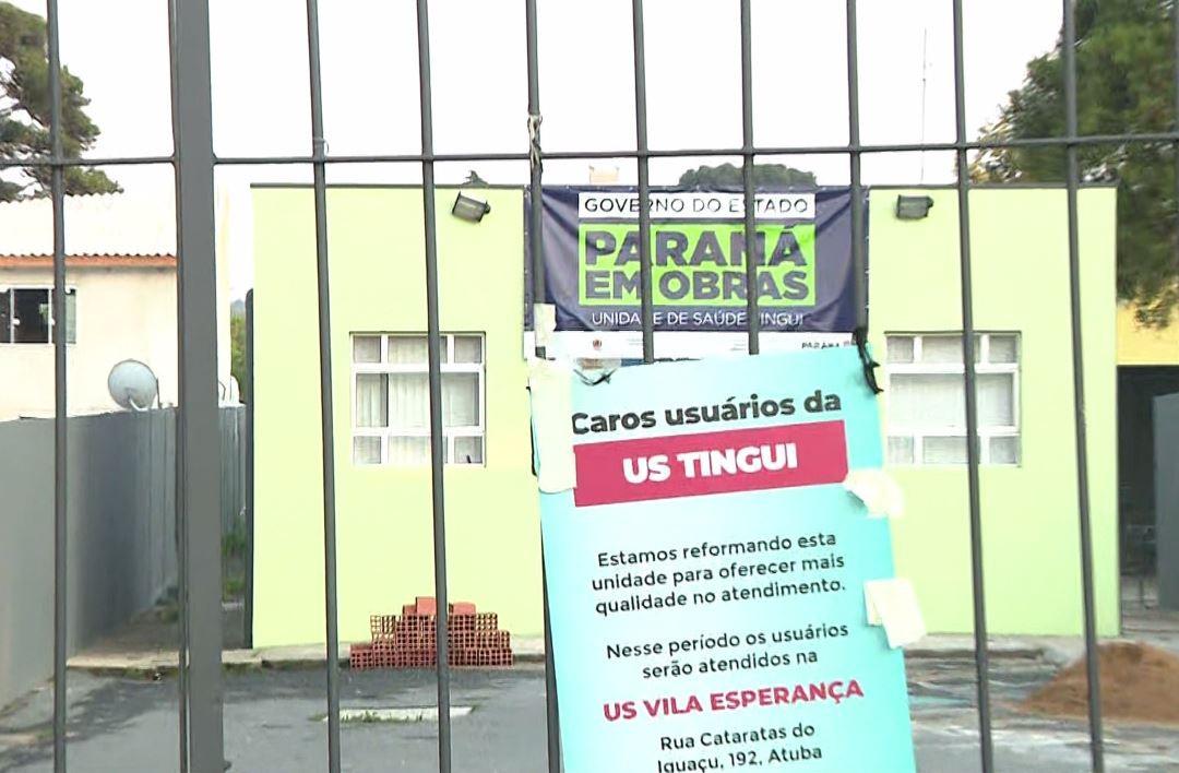 Com seis unidades de saúde de Curitiba fechadas para reformas, veja como fica o atendimento