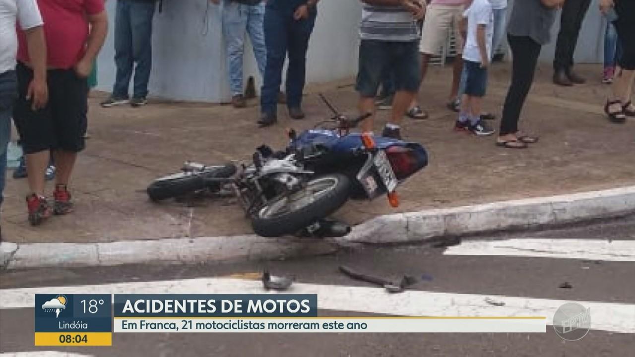 Franca registra 21 mortes de motociclistas no trânsito em 2020
