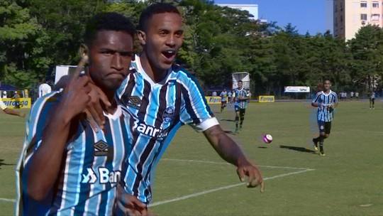 Os gols de Santos 3 x 4 Grêmio pela Copa RS de Futebol Sub-20