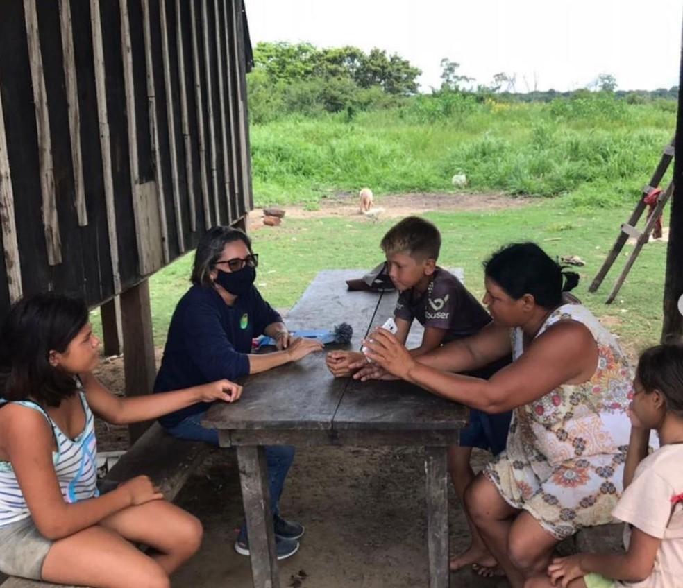 Professores do Acaia Pantanal fazem visitas educativas durante a pandemia — Foto: Divulgação
