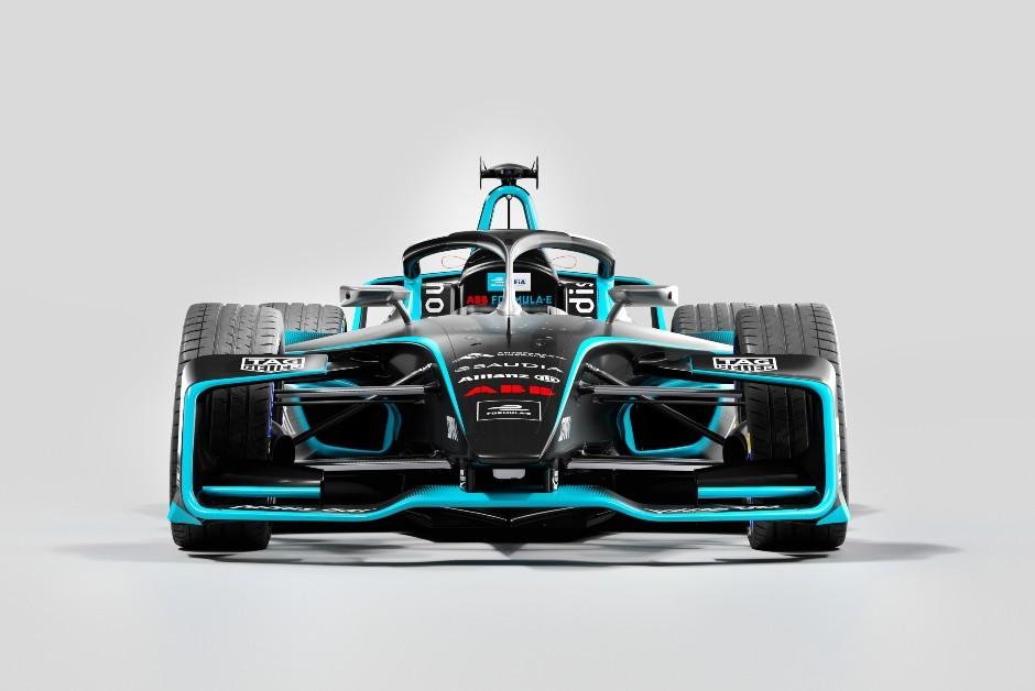 O novo modelo da Formula E visto de frente (Foto: Divulgação)