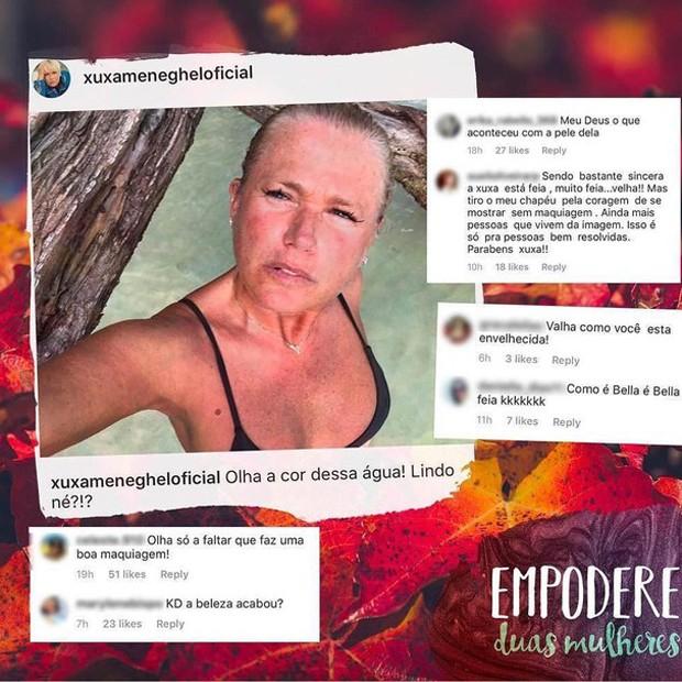 Xuxa, de 55 anos, recebe críticas na web (Foto: Reprodução/Instagram)