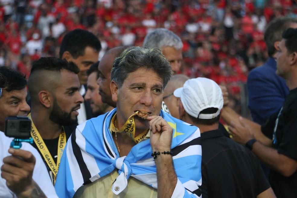 Campeão gaúcho, Renato recusou o Fla para seguir no Grêmio (Foto: Eduardo Moura/GloboEsporte.com)