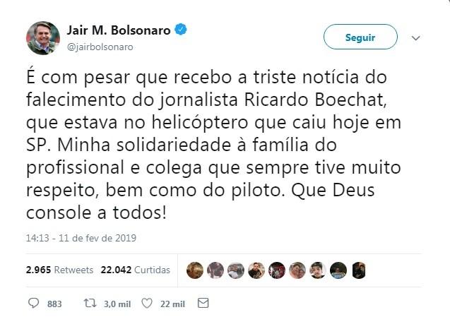 Jair Bolsonaro (Foto: Reprodução )
