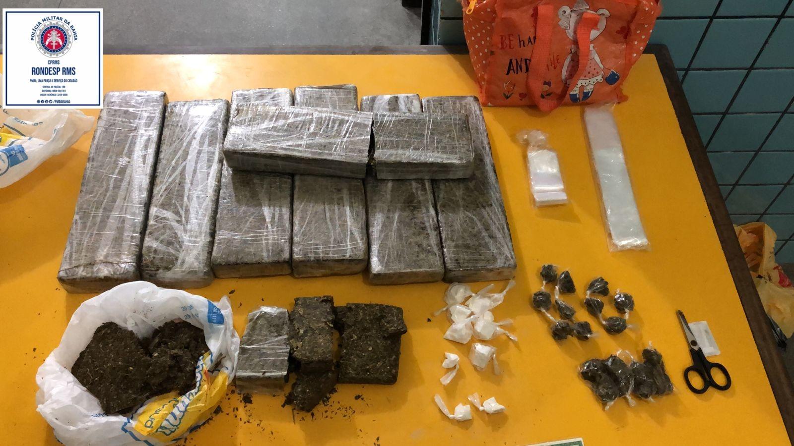Homem é preso em flagrante com mais de sete quilos de maconha em Lauro de Freitas, na RMS