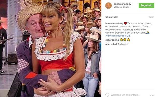 Dani Bananinha lamenta morte de Russo (Foto: Reprodução)