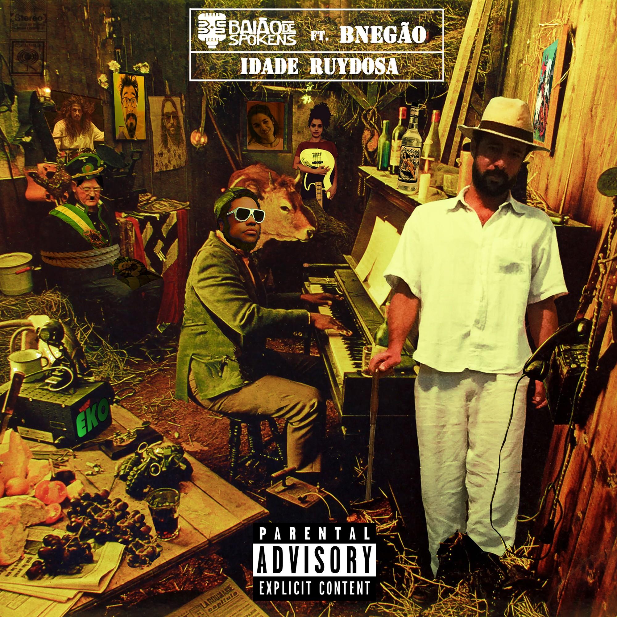 Grupo Baião de Spokens se junta com BNegão em single com capa inspirada na arte de álbum do pianista de jazz Thelonious Monk