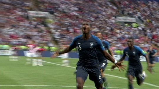 Estrela de Pogba brilha na final: lançamento genial e gol no título