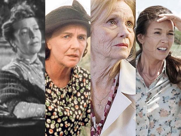Virgina Carroll em 'Superman', Phyllis Thaxter em 'Superman', Eva Marie Saint em 'Superman - o retorno' e Diane Lane em 'O homem de aço' (Foto: Divulgação)