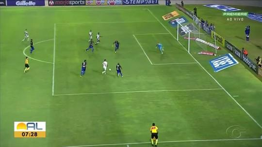 Resultado negativo contra o Vasco quebra invencibilidade de sete partidas do CSA no Rei Pelé