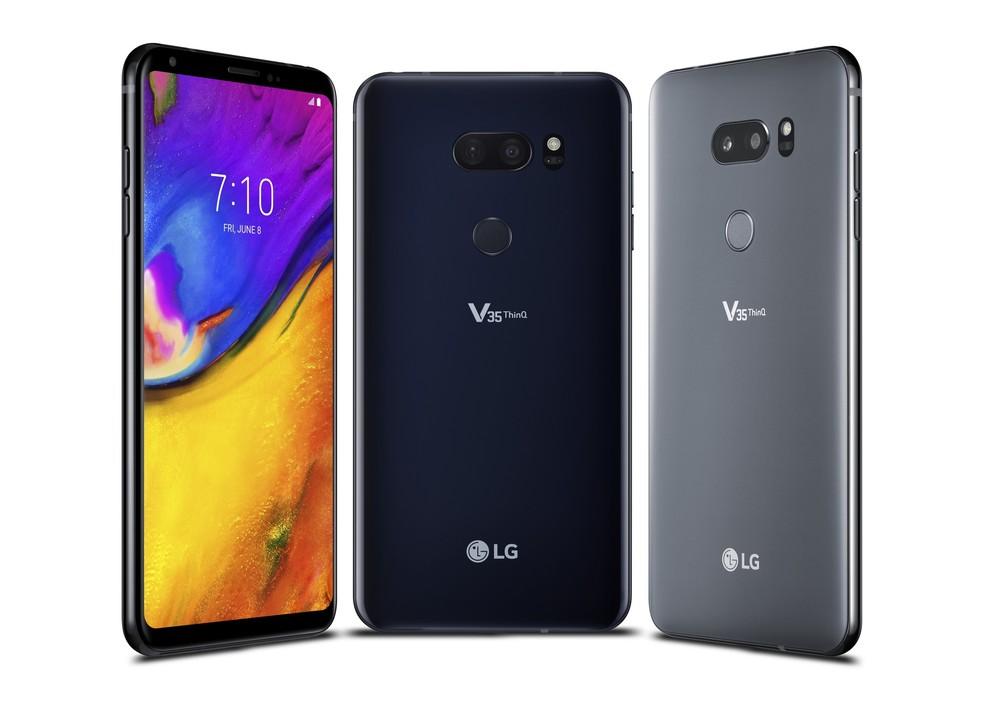 LG V35 ThinQ tem tela de 6 polegadas (Foto: Divulgação / LG)