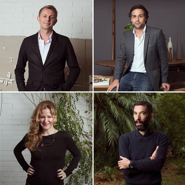 Os sócios do Triptyque Gui Sibaud, Olivier Rafaelli, Carol Bueno e Greg Bousquet (Foto: Divulgação)