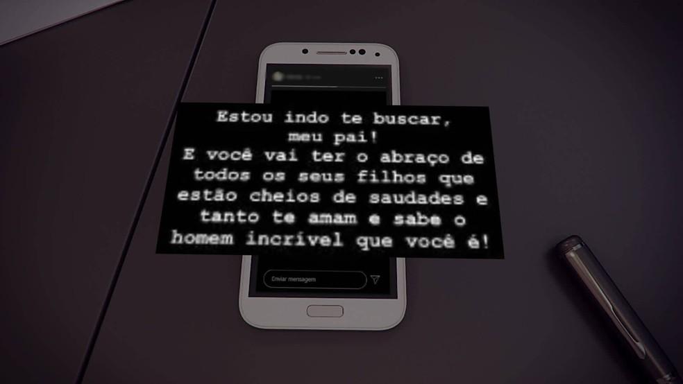 Filha de Queiroz posta mensagem emocionada em rede social após a Justiça conceder prisão domiciliar ao pai — Foto: Reprodução