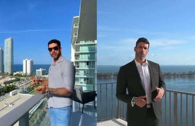 Kadu Parga, do 'BBB' 10, mora em Miami e trabalha como consultor imobiliário de propriedades de luxo (Foto: Reprodução)