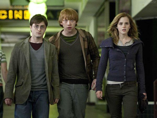 Harry Potter, Rony e Hermione em um filme da série 'Harry Potter' (Foto: Reprodução)