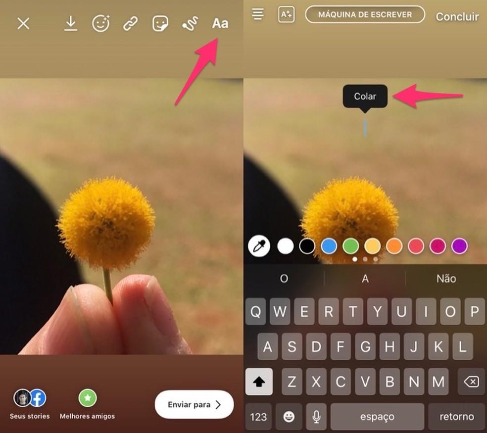 passo 6 - Instagram: Como Mudar a Letra do Instagram?