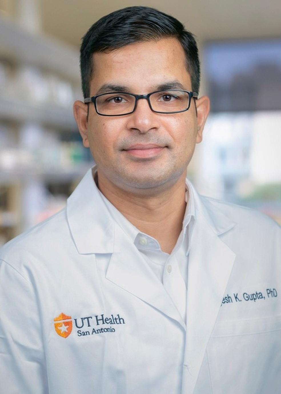 Yogesh K. Gupta, pesquisador que liderou o estudo — Foto: UT Health San Antonio/Divulgação