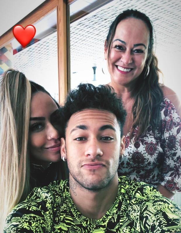 Rafaela, Neymar e Nadine (Foto: Reprodução)