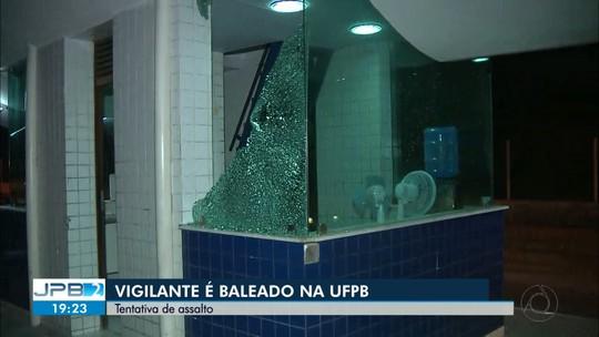Vigilante é baleado durante troca de tiros na UFPB, em João Pessoa