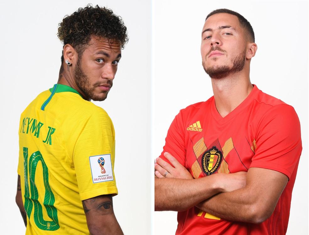 Neymar, Brasil, Hazard, Békgica (Foto: Mike Hewitt/FIFA via Getty Images)