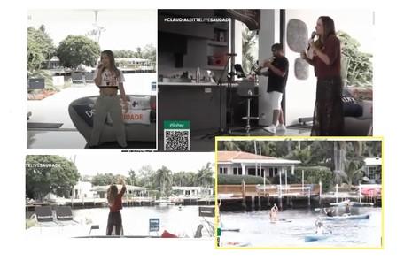 Em sua última live, fãs cumprimentaram a cantora enquanto passeavam de caiaque Reprodução