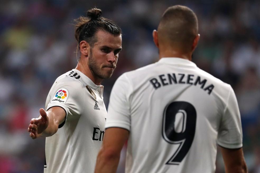 Bale e Benzema vivem fase goleadora sem Cristiano Ronaldo — Foto: Javier Barbancho/Reuters
