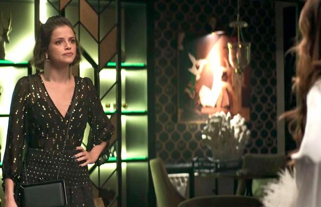 Na quarta (5), Josiane (Agatha Moreira) ficará preocupada quando souber que Amadeu pretende morar com sua mãe (Foto: Reprodução )