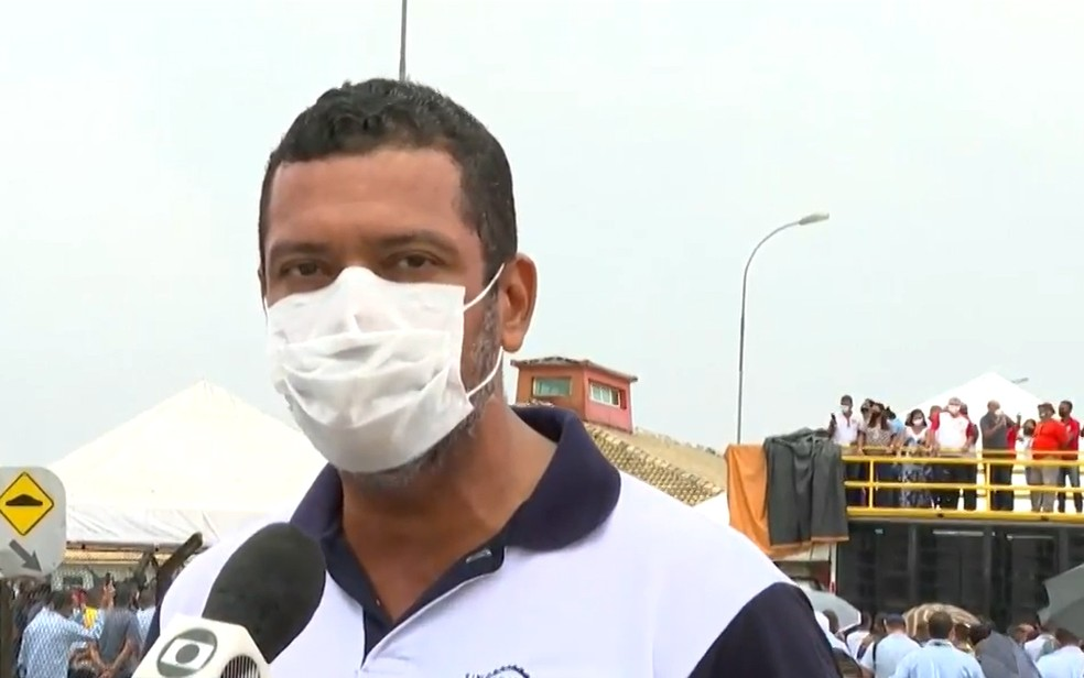 Júlio Bonfim, presidente do Sindicato dos Metalúrgicos — Foto: Reprodução/TV Bahia