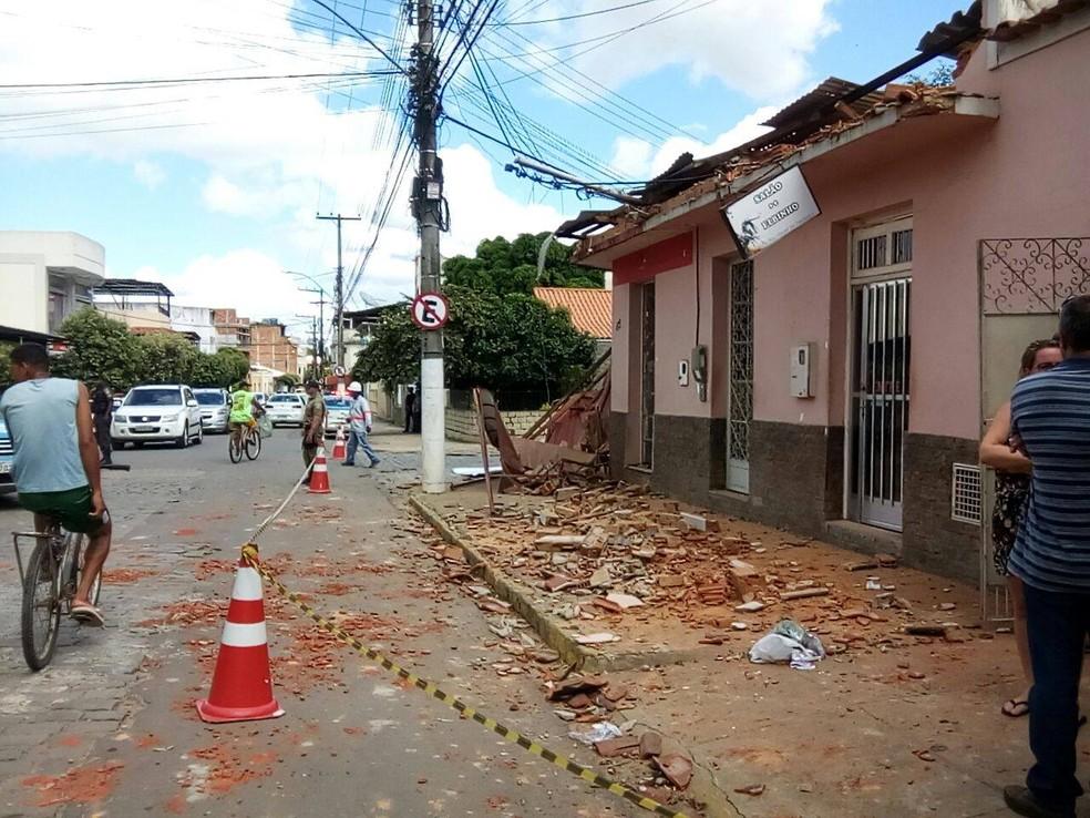 De acordo com a Defesa Civil, as estruturas dos imóveis não foram danificadas (Foto: Divulgação/Defesa Civil de Miracema)