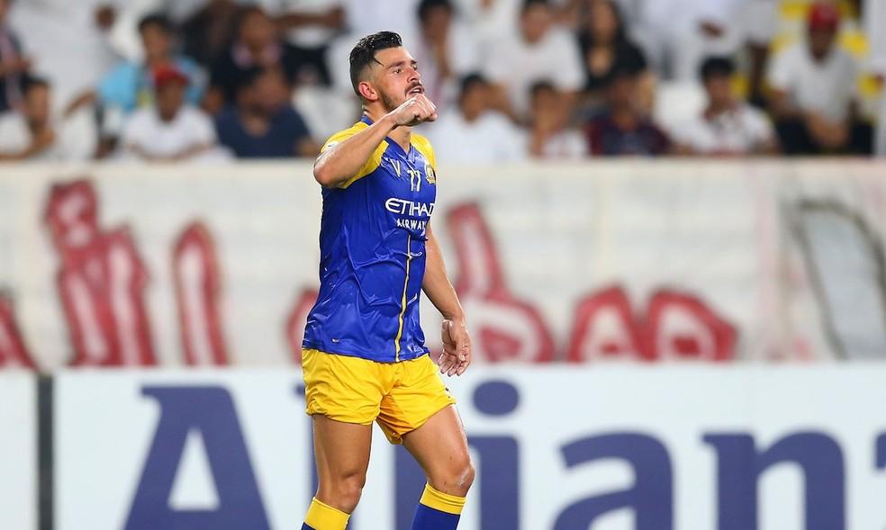 Giuliano em ação pelo Al Nassr na Liga dos Campeões da Ásia — Foto: Reprodução/Twitter