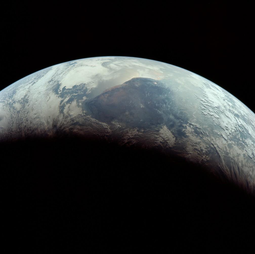 Tripulação volta à Terra — Foto: Divulgação/Nasa