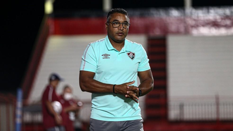 Roger Machado, técnico do Fluminense — Foto: Lucas Merçon FFC