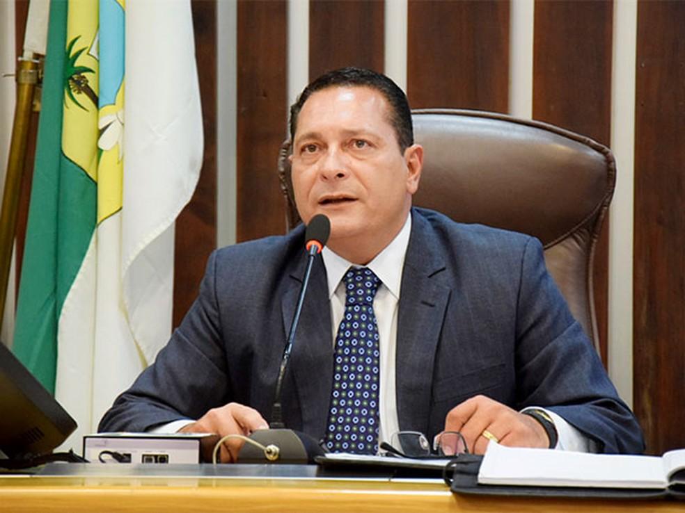 Deputado Ezequiel Ferreira, presidente da Assembleia Legislativa do RN — Foto: João Gilberto/ALRN