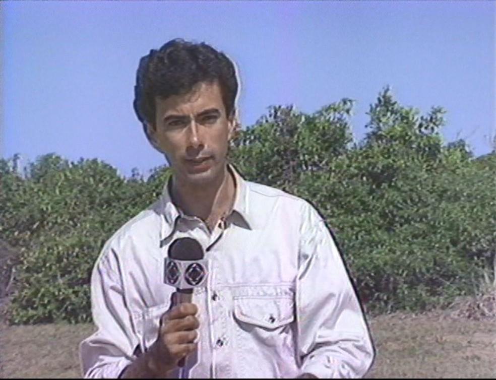 Tourinho foi repórter de Rede da TV Gazeta — Foto: Arquivo/TV Gazeta
