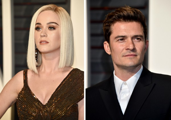 A cantora Katy Perry e o ator Orlando Bloom (Foto: Getty Images)