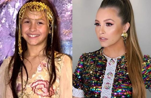 Carla Diaz interpretou a pequena Khadija, que ficou conhecida pelo bordão 'inshalá' e por gostar muito de ouro. Sua última participação em novelas foi em 'Espelho da vida' (Foto: TV Globo / Reprodução Instagram )