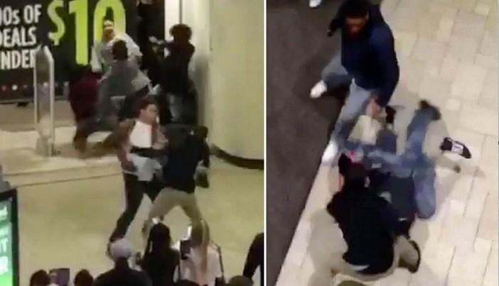 Brigas em shopping americano na Black Friday