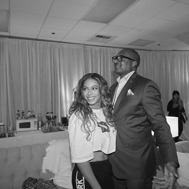 Beyoncé e o pai, Matthew Knowles (Foto: Reprodução/Instagram)
