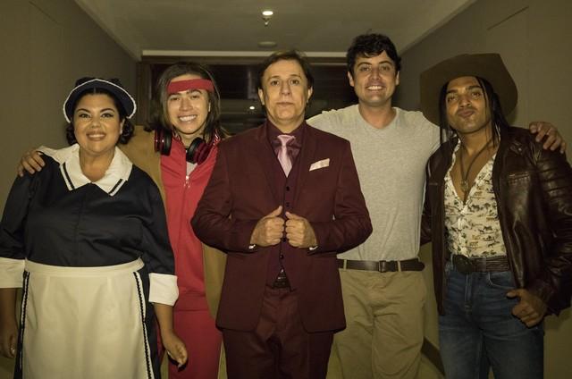 Fabiana Karla, Whindersson Nunes, Tom Cavalcante, Bruno de Luca e Tirulipa (Foto: Divulgação)