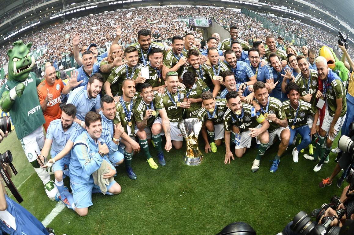 Campeão, Palmeiras encerra Brasileirão com melhor turno da história dos pontos corridos Rib8042