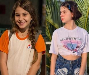 Isabella Koppel, a Dayse, está com 14 anos e trabalha como atriz, dubladora e cantora. Desde a novela, ela fez 'Os dias eram assim' e 'Apocalipse', entre outros trabalhos   TV Globo / Reprodução